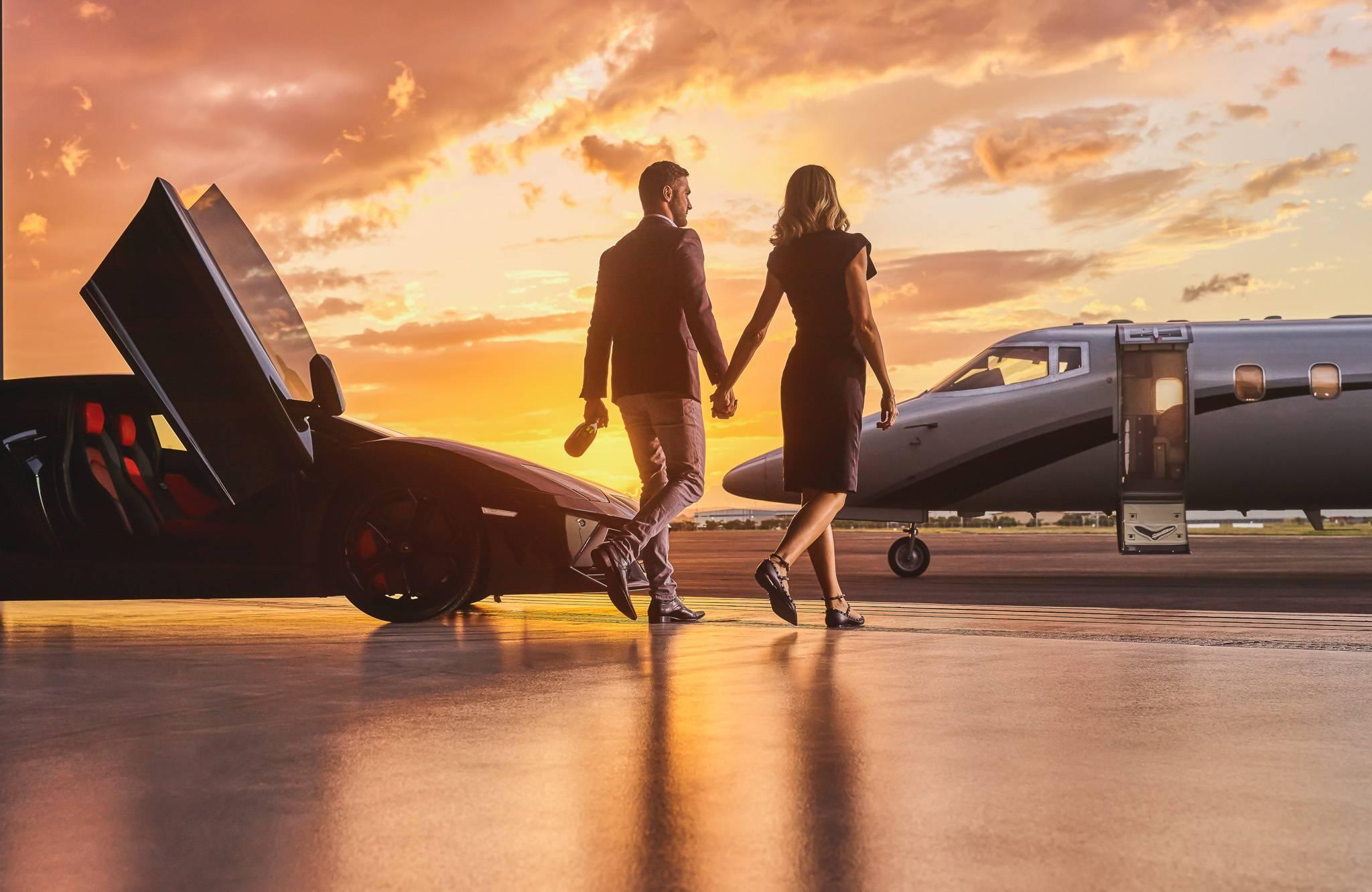 lamborghini business private jet married couple 23 1